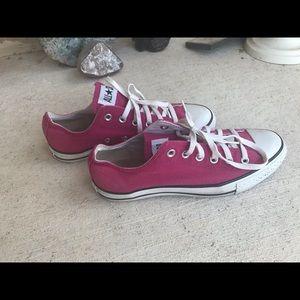 Dark pink converse
